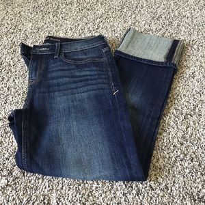 Express cropped skinny mid rise. Size 2.